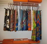 Scarf Storage ideas | Organization | Pinterest