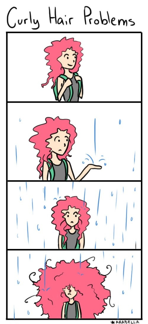 Curly Hair Problems...says it all.
