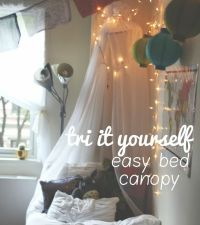DIY simple and easy dorm bed canopy | DIY | Pinterest