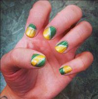 Green bay packer nails | Nails | Pinterest
