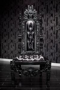 Gothic and regal high-back chair | GOTH! | Pinterest