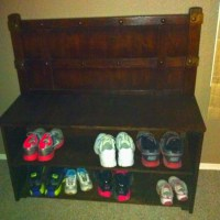 Shoe rack for front door