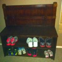 Shoe rack for front door | Organization | Pinterest