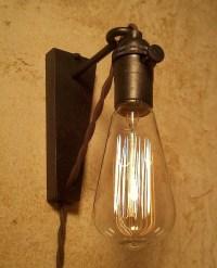 Hanging Pendant Wall Sconce. Retro Edison Lamp. Plug in