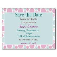 Save the Date Baby Shower Postcard