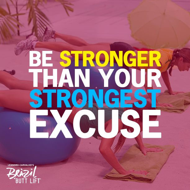 You are STRONGER than your strongest excuse. #motivation #fitness #workout