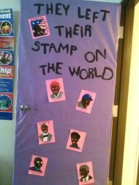 Black History door decor