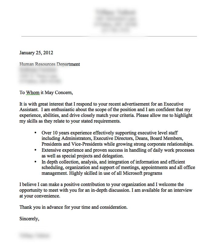 A very good cover letter example  Resume tips  Pinterest