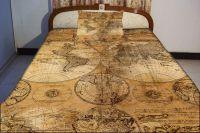 Retro map bedspread retro map bedding set world map duvet ...