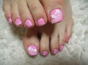 toenail design pink