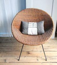 Vintage Mid Century Wicker Basket Chair / Local Pickup