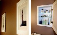 hidden medicine cabinet behind a picture | Renovate ...