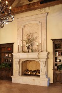Tuscan elegant bedroom fireplace. WOW!! | Bedroom styles ...