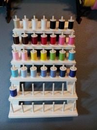 Wall Mounted Thread Holder Holds 42 Spools by dogsbythebay ...