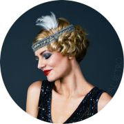 1920s headband with feather 20's