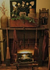 Prim and comfy. | Fireplaces and mantels | Pinterest