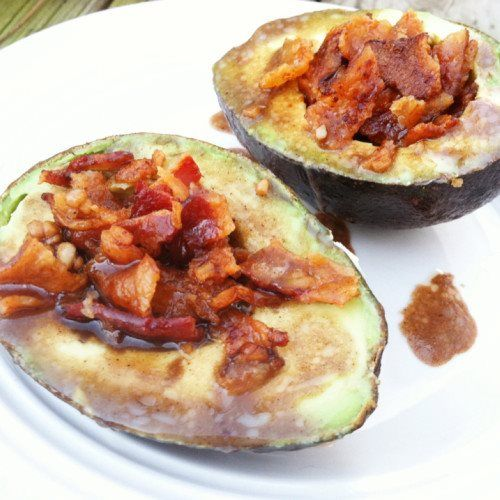 Bacon Avocado Cups with Balsamic Glaze (21DSD)  @Primally Inspired