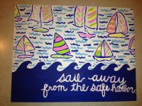 "Lilly Pulitzer ""You Gotta Regatta"" Canvas Panel Painting"