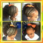 creative cornrow design natural