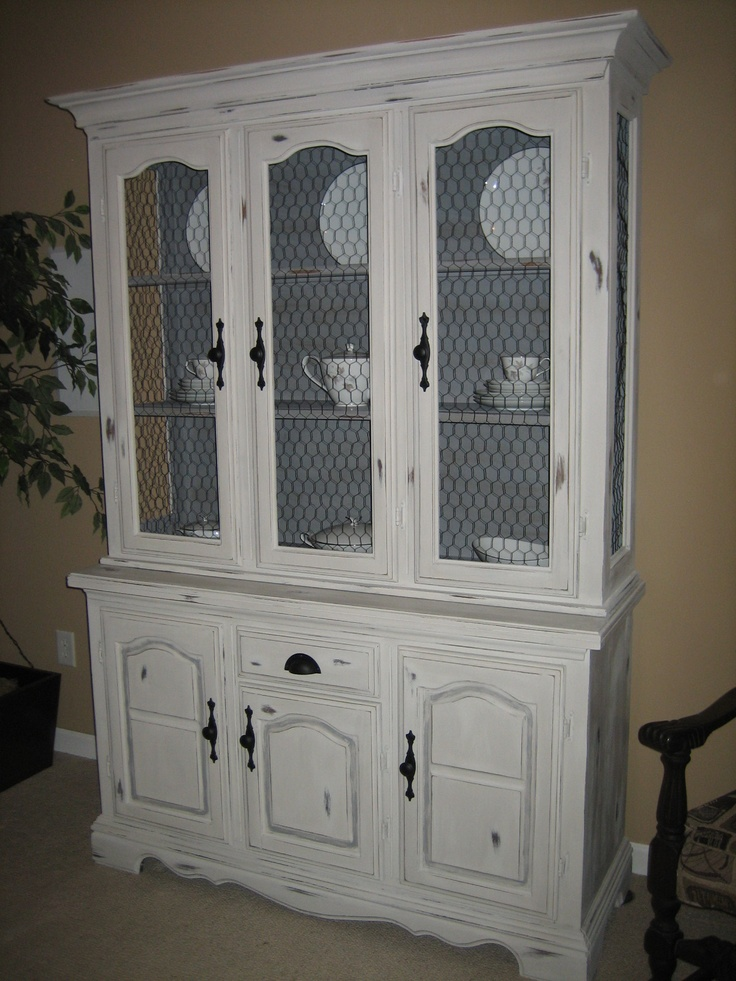 gray distressed china cabinet  For the Home  Pinterest
