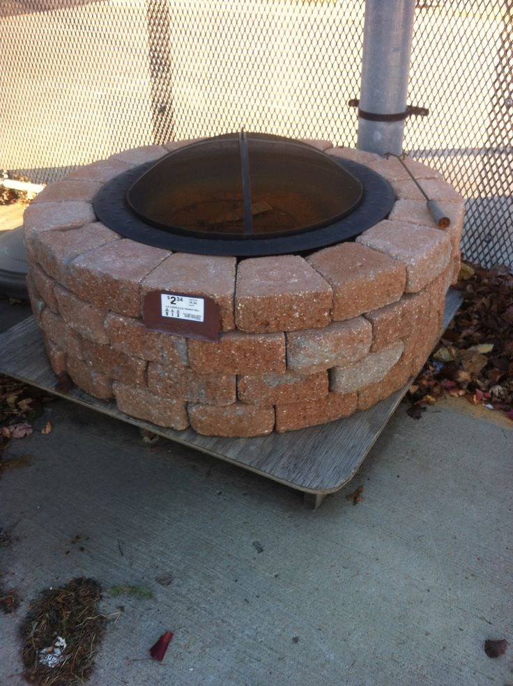 Firepit at Lowes  Outdoor  Patio Inspirations  Pinterest