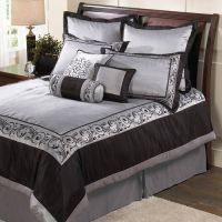 Silver & black bedding!! | For The Home | Pinterest