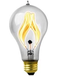 """Flickering Light Bulbs. 15 Watt Carbon Filament """"Balafire ..."""