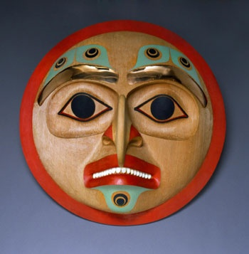 "Eagle ""I can see in all directions"" Round Mask"