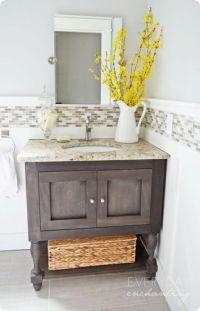 pottery barn inspired bathroom vanity   White Cream ...