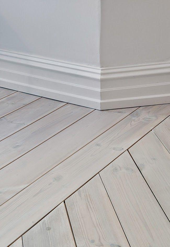 white washed oak floors  white walls  Four Oaks  Pinterest