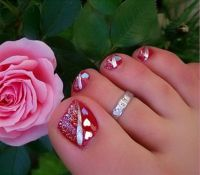 Toe Nail Art Designs for Valentines Day | Toe nails design ...
