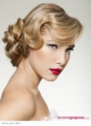 1920s updo vintage style- hair