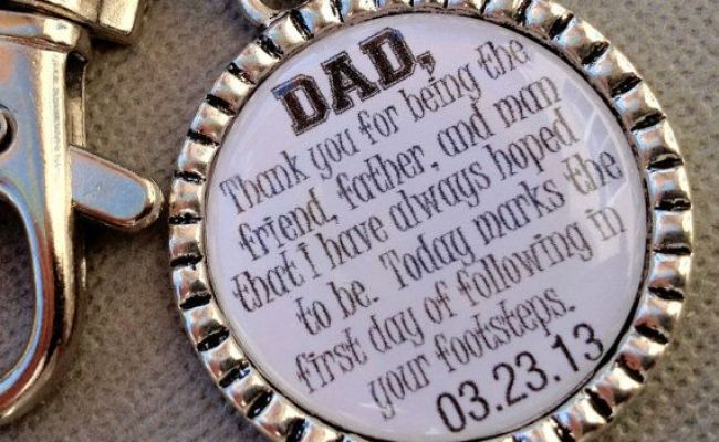 Father Of The Groom Gift Personalized Keychain Blessed