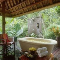 Outdoor bath   For the Home   Pinterest