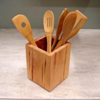 Wooden+Kitchen+Utensil+Holder   kitchen ideas   Pinterest