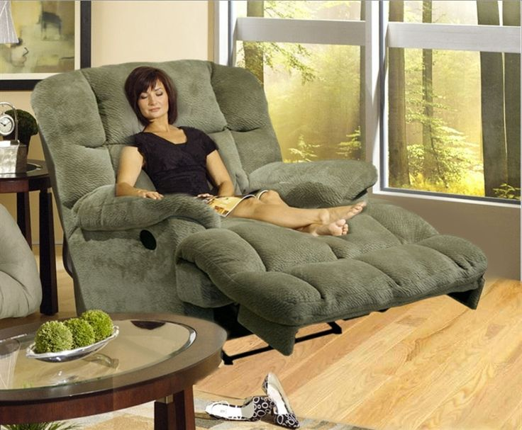 oversized recliner chairs media overstuffed chaise - how comfortable is that?