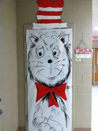 """Class room door ~ Dr. Seuss """"The cat in the hat""""! School ..."""