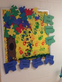 autism awareness bulletin board/classroom door
