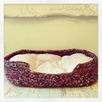 Crochet dog bed | Crochet patterns | Pinterest