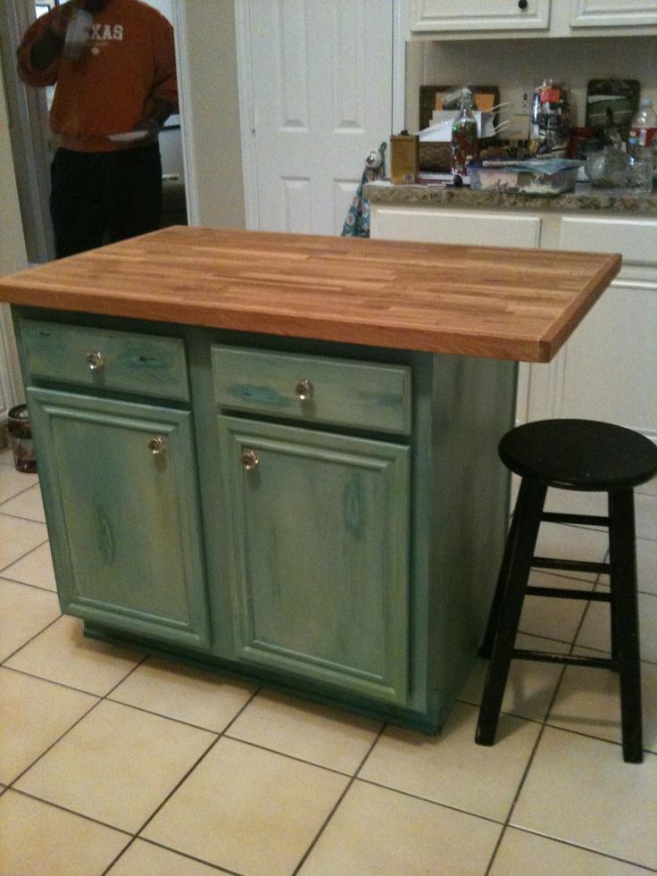 distressed turquoise kitchen island  Decorating  Neat