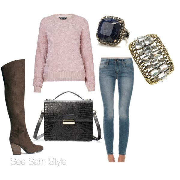 """""""Teddy Bear Sweater and Jeans"""" by serdarsa on Polyvore"""