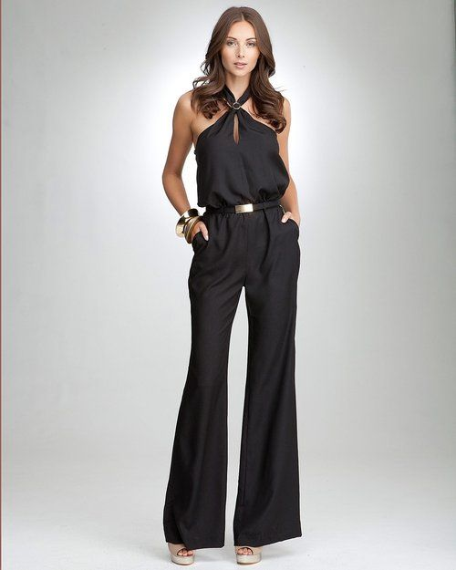 Halter Neck Jumpsuits For Women, Halter Neck Wide Leg Jumpsuit
