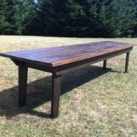 Rustic Farm Table for Large Dining Space - Indoor/Outdoor