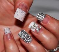 Bling French Tip Nail Designs | Joy Studio Design Gallery ...