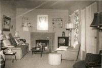 1950s Living Room | vintage living | Pinterest