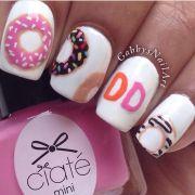 donut nail art character animal