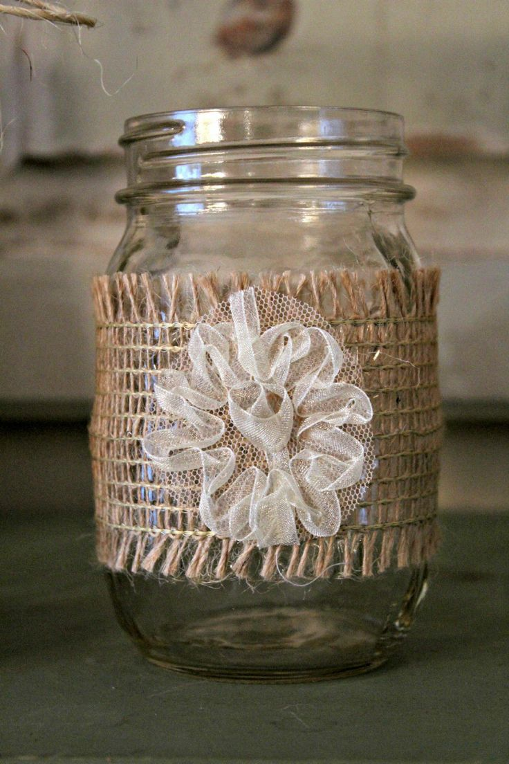 Burlap And Lace Slip Covers