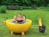 ALFI brand FireHotTub The Round Fire Burning Portable ...
