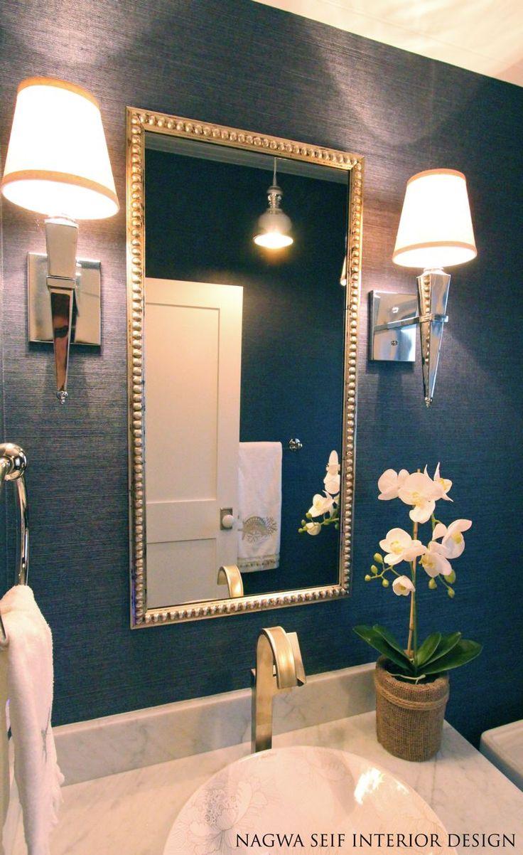 navy grasscloth wallpaper bathroom 2017  Grasscloth Wallpaper