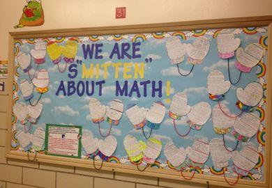 Winter Math Bulletin Board Ideas